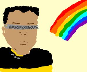 Levar meets a real rainbow