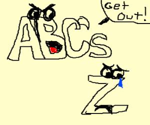 Alphabet casts out the letter Z
