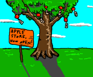 Apple decides apples growing on 2 = $