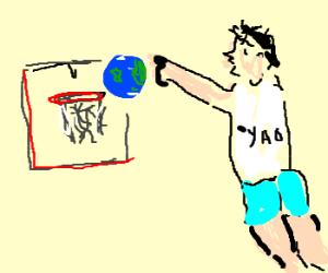 Yao Ming dunks Earth