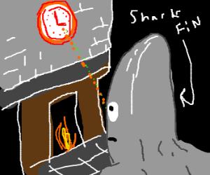 Sharkfinheadguy see clock over fireplace