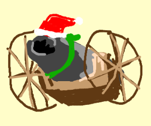 Christmas cannon