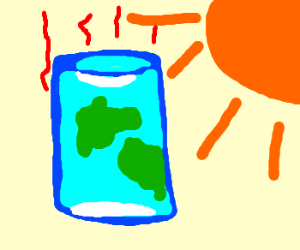 Global warming makes Earth cylindrical