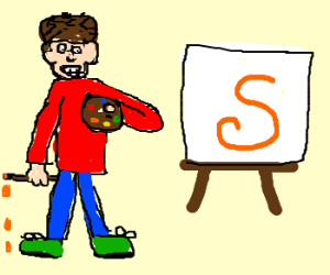 """Draw the letter """"S"""""""