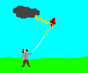 Benjamin Franklin Flies A Kite