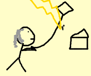 Ben Franklin's kite experiment