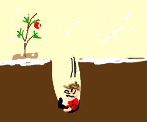 charlie brown falls for xmas trap