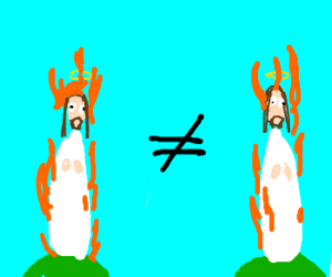 jesus on fire not equal to jesus on fire