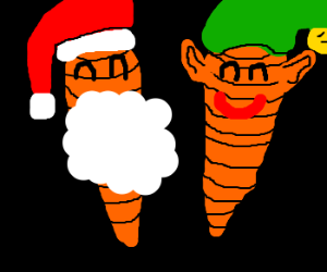 Carrot Santa and Carrot Elf