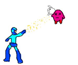 Mega Man takes Kirby's Power