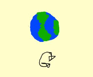 Earth upside-down