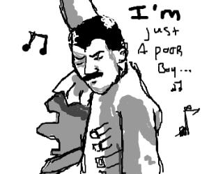 Freddie Mercury singing Bohemian Rhapsody