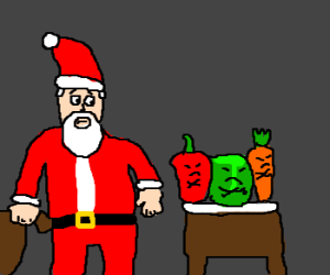 Vegtables don't carrot all for Santa.