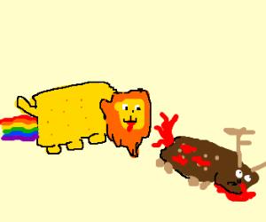 Nyan Lyan kills Nyan deer