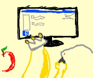 King Banana decides to create a Facebook page
