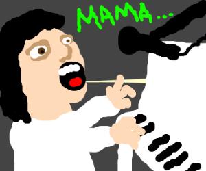 Freddy Mercury sings Bohemian Rhapsody