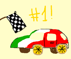Italian car is victorious