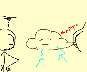 guy is mad at fart cloud