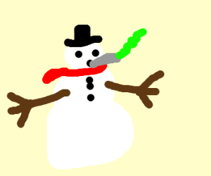 Frosty The Snowman Smokes Weed Drawception