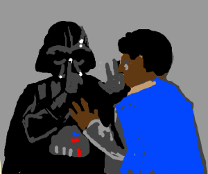 Darth Vader makes Lando STFU