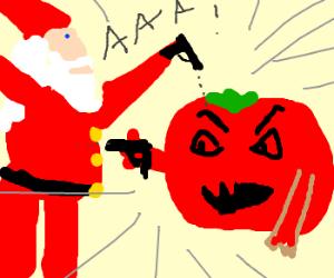 SANTA vs TOMATO