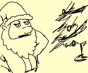 Disapproving Santa Claus