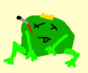 Someone has killed the king of frogs!