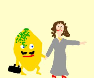 Celine dion runs off with a lemon