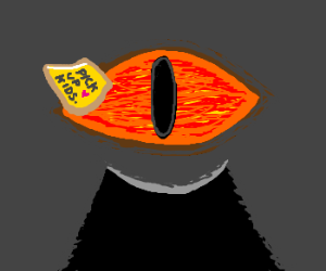 There's a sticky note on Sauron's Eye.