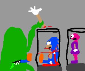 Alien enjoys Sonic delicacy