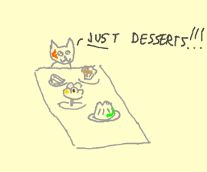 Awesome cat gets just desserts
