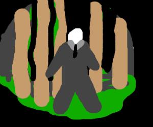 slenderman in the forrest