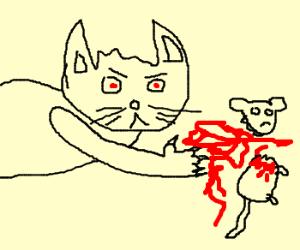 Scratchy finally kills Itchy - Drawception