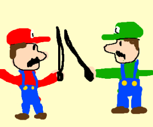 Mario and luigi duel to the death