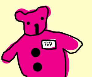 pink bear_name Ted