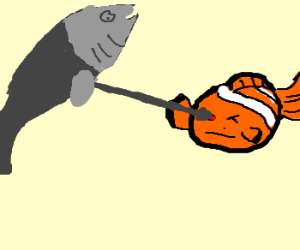 crazy fish blinding Nemo