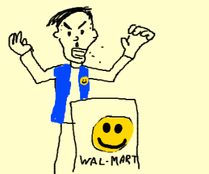 Hitler hates working at Wal-Mart