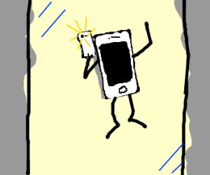Iphone self photo on the mirror...