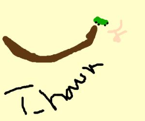 Tony Hawk wannabe crashes while holding pizza