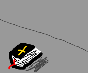 Black Bible with Golden Cross feels lonely