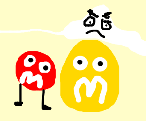 Abominable Snow Man Angry At M&M Head Climbers