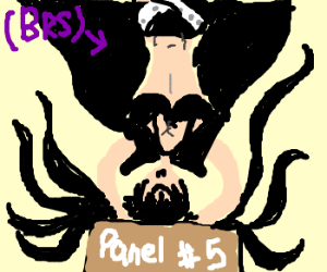 BRS hanging upside down says this is panel #5