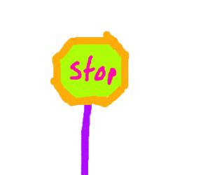 Neon Stop Sign