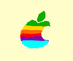 Old school Apple logo