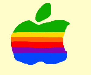 Rainbow Apple Logo.