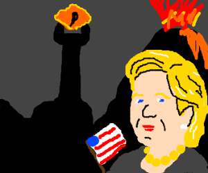 Hilary Clinton goes to Mordor