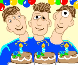 Friendly mutant celebrates three birthdays