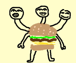 Three Heads, One Burger