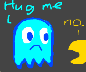 Blue ghost wants hug