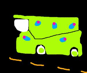 Mega Truck Covered In Blue Olives